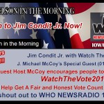 Big Iowa Radio Station Promotes Watch The Vote – Listen: 4 min audio!
